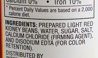 Bad Kidney Bean Ingredients
