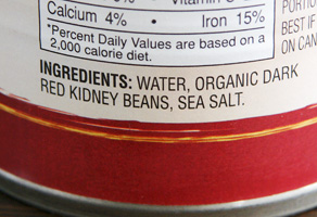 Kidney Bean Ingredients